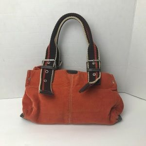 Orange and Brown Relic Corduroy Purse